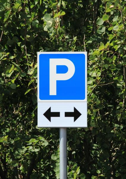 señal, de, estacionamiento, con, dos, flechas - 12884490