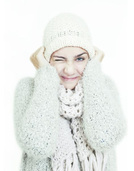 mujer invierno frio retrato otonyo