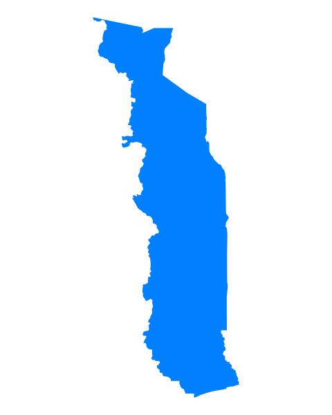 azul grafico ilustracion mapa togo geografia