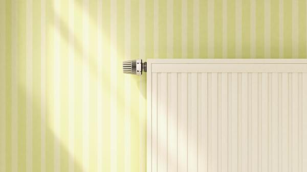 representacion 3d de calefaccion en paredes