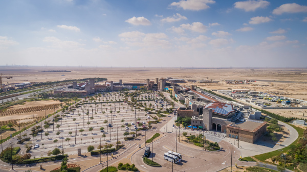 vista aerea de una zona comercial