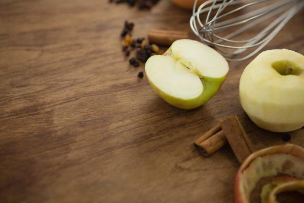 primer plano de la manzana granny