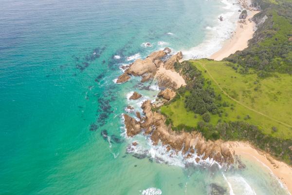 vista aerea de la peninsula de