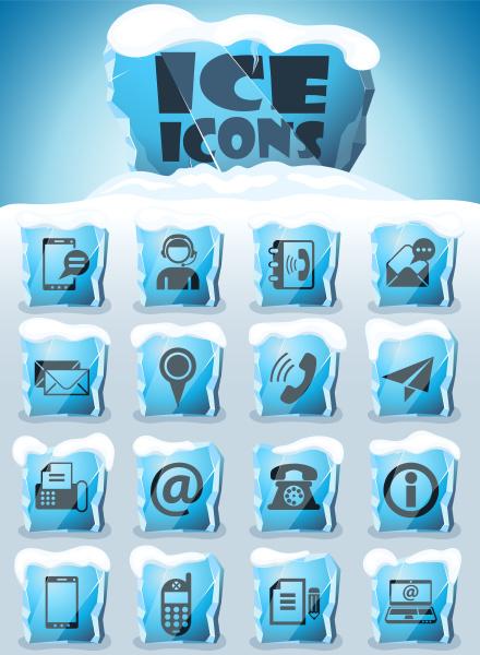 contactenos conjunto de iconos