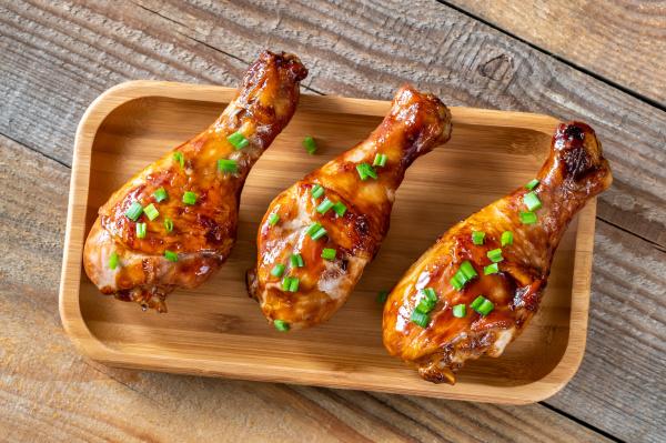baquetas de pollo a la parrilla
