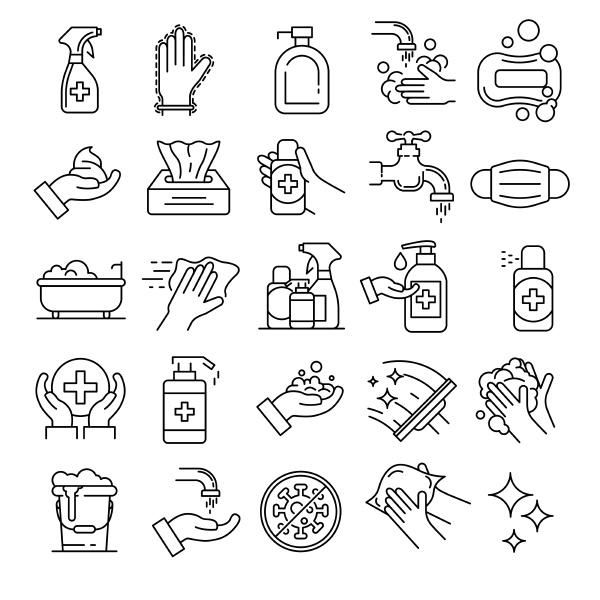 conjunto de iconos de saneamiento conjunto