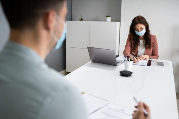 reunion de negocios de entrevista de