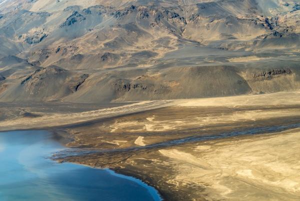 fotografia aerea del paisaje islandes capturada