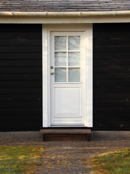 puerta, blanca, aislada, sobre, casa, de - 29746499