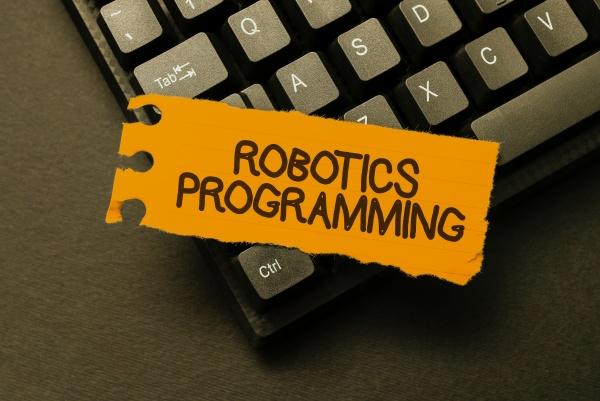escritura mostrando texto programacion robotica