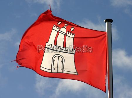 hamburgo bandera golpe escudo de armas