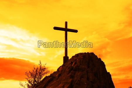 iglesia dios muerte piedra cielo puesta