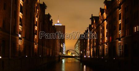 puente luces puerto hamburgo puertos elba