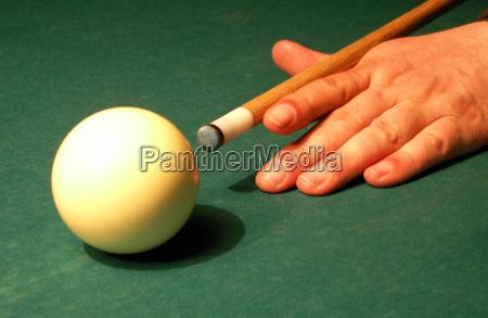 mano dedo juego juega billar mesa