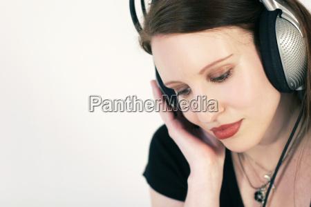 mujer hermoso bueno musica escuchar relajacion