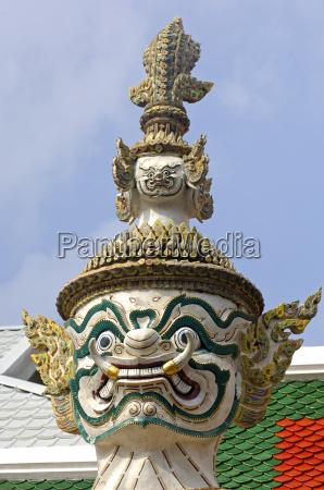 templo arte estatua dientes asia salvaje