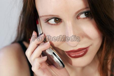 mujer conversacion telefono risilla sonrisas movil