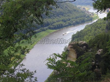 saxonia elba bastiao rio agua flussverlauf