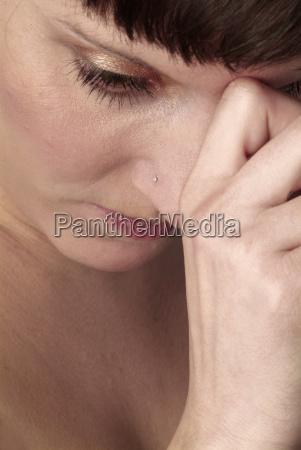 mujer mano manos dedo dama cara