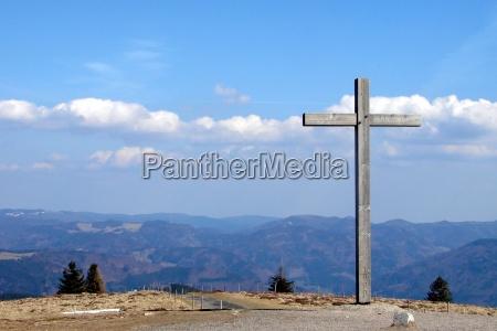 superior por encima caminata cruz distante