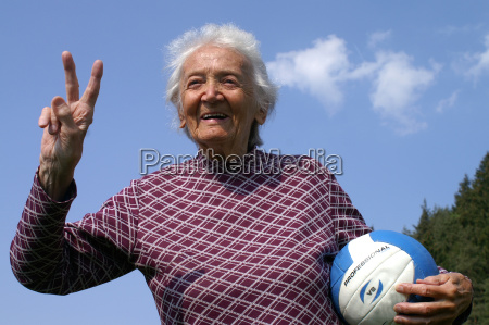 mujer senyal risilla sonrisas atletico abuela