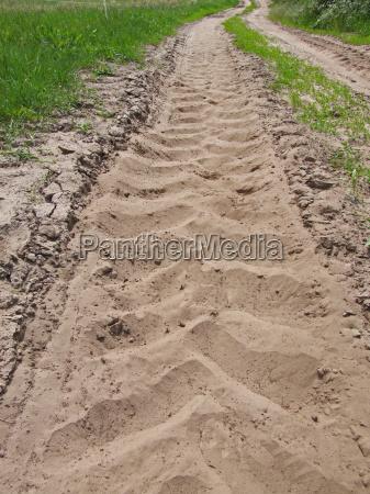 verde camino de tierra campo sentir