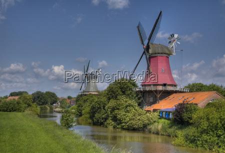 twin mills of greetsiel