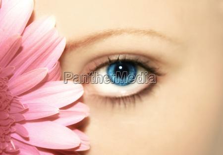 belleza, -, flor, -, ojo - 727400