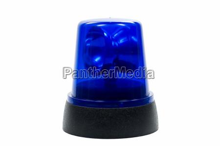 senyal azul peligro opcional trafico emergencia