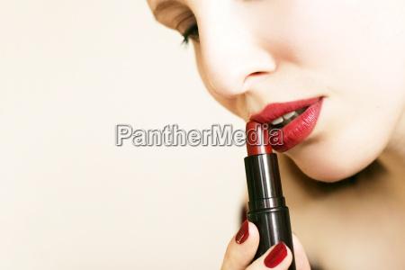 mujer hermoso bueno boca cara labios