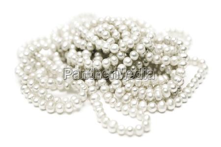 elegante collar de perlas