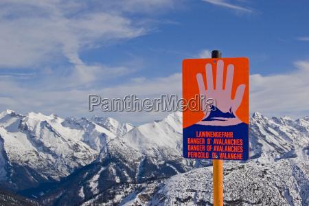 peligro de avalancha