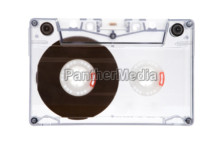 cassette de musica transparente