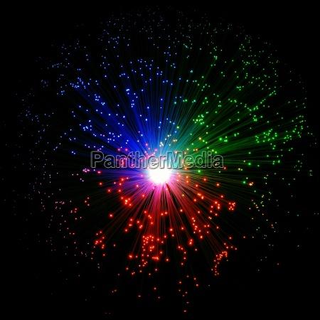 luz lampada fibra de vidro lichtleiter