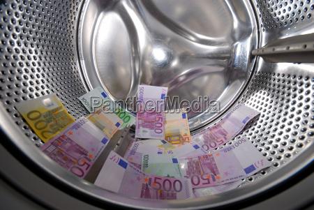 billete de banco sucio lavadora la