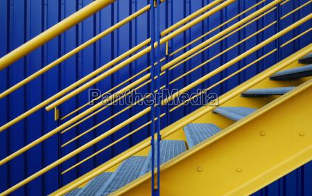 azul escalera metal los colores complementarios