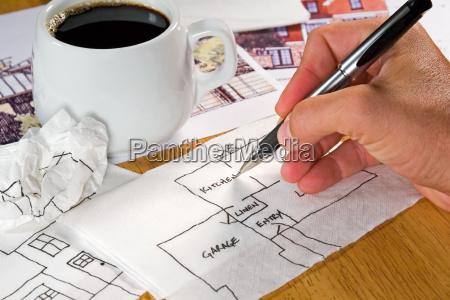 sketch on a napkin