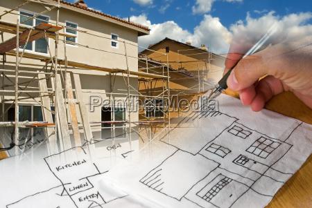 arquitecto y montajes de la construccion