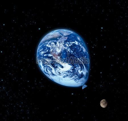 el globo azul