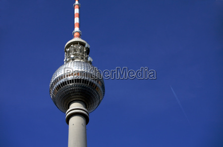 television tower berlin close up