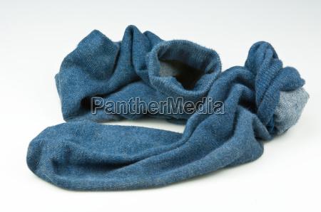 medias usadas azules