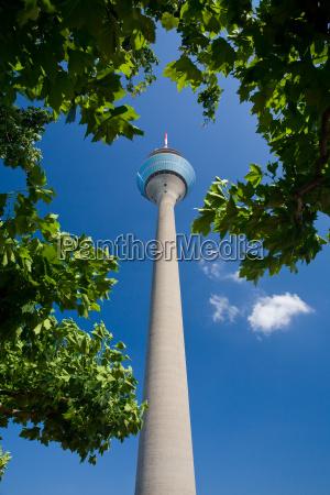 azul torre torre de radio estilo