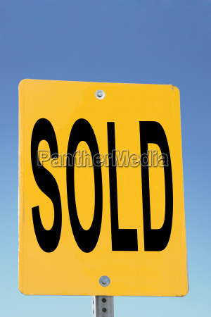sign sold