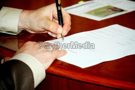 mano firma certificado oficina de registro