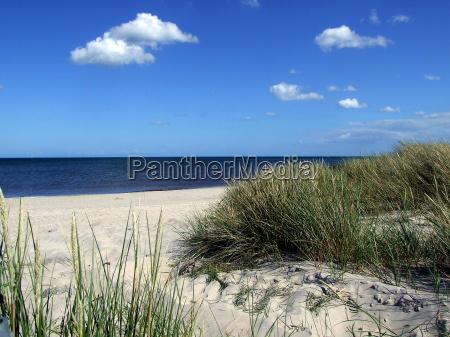 duna de arena en el mar