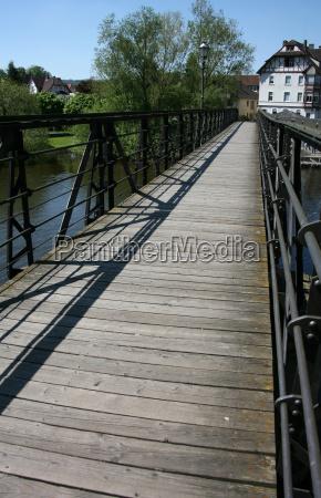 puente barandilla puente peatonal agua de
