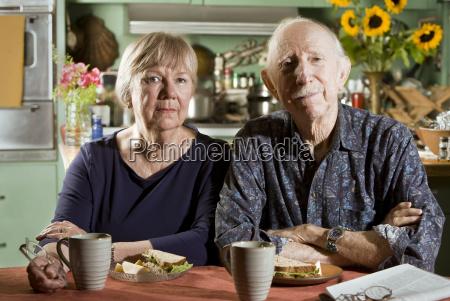 retrato de la pareja mayor