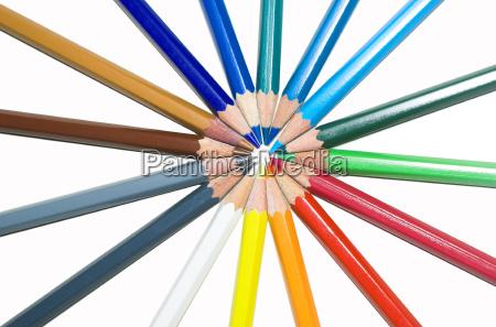 lapices de colores de colores coloridos