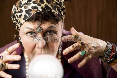 femenino de cristal traje clarividente baile