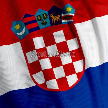 caucasico europa bandera europeo croacia mujer